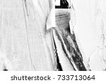 old torn posters creased... | Shutterstock . vector #733713064