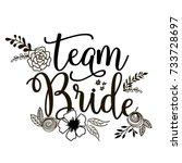 team bride lettering vector... | Shutterstock .eps vector #733728697