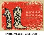 Cowboy Boots .vector Graphic...