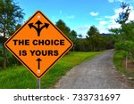 The choice is yours, orange road sign.  - stock photo