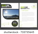 abstract vector modern flyers...   Shutterstock .eps vector #733735645