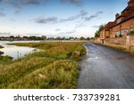 late evening at bosham near... | Shutterstock . vector #733739281