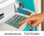 enter atm code withdrawing... | Shutterstock . vector #733741681