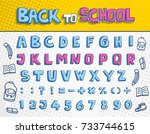 back to school font and...   Shutterstock .eps vector #733744615