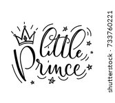 little prince vector poster... | Shutterstock .eps vector #733760221