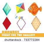 forms for the smallest. rhombus ... | Shutterstock .eps vector #733772284