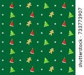 christmas pattern | Shutterstock .eps vector #733773907