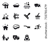 15 vector icon set   factory... | Shutterstock .eps vector #733781479