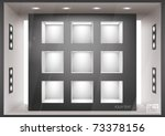 storefront  with illumination... | Shutterstock .eps vector #73378156