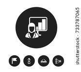 set of 5 editable bureau icons. ...