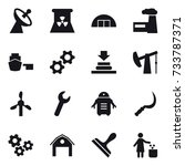 16 vector icon set   satellite... | Shutterstock .eps vector #733787371