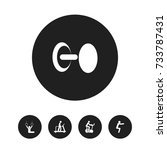 set of 5 editable fitness icons....