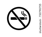 no smoking icon | Shutterstock .eps vector #733790755