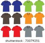 polo shirt design vector... | Shutterstock .eps vector #73379251