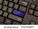 general data protection... | Shutterstock . vector #733795897