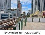 landscape view of railway of... | Shutterstock . vector #733796047