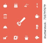 set of 13 editable food icons....