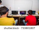 faro  portugal   august 19 ... | Shutterstock . vector #733801807