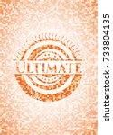 ultimate orange mosaic emblem | Shutterstock .eps vector #733804135