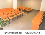 meeting room interior. front... | Shutterstock . vector #733809145