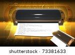 digital illustration of  a... | Shutterstock . vector #73381633