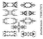 calligraphic design elements... | Shutterstock .eps vector #733817071