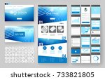 website template  one page... | Shutterstock .eps vector #733821805