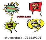set comic sale | Shutterstock .eps vector #733839301