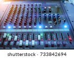 power mixer.sound mixer...   Shutterstock . vector #733842694
