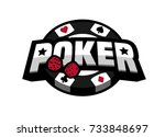 poker game  logo emblem. | Shutterstock .eps vector #733848697