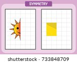 complete the pictures  kids for ...   Shutterstock .eps vector #733848709