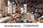 concept design of modern... | Shutterstock . vector #733849045