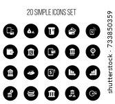 set of 20 editable financial...