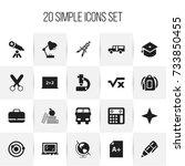set of 20 editable school icons....