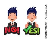 "businessman in actions with ""no""... 