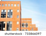 blur office building with... | Shutterstock . vector #733866097