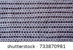 close up of grey  wool textile | Shutterstock . vector #733870981
