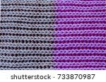 close up of grey and pink wool... | Shutterstock . vector #733870987