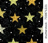 Cute Pattern With Pink Stars O...