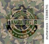 hamburger camouflage emblem | Shutterstock .eps vector #733888741