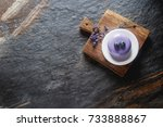 trendy mousse cake with mirror... | Shutterstock . vector #733888867