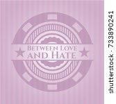 between love and hate retro... | Shutterstock .eps vector #733890241
