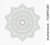 green rosette or money style... | Shutterstock .eps vector #733895185