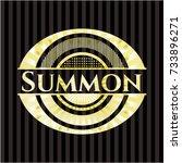 summon gold badge or emblem | Shutterstock .eps vector #733896271