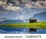 Lake Reflections At Alpe Di...