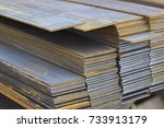 metal profile strip in packs at ... | Shutterstock . vector #733913179