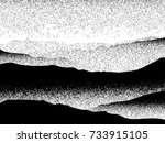 foggy landscape mountain forest ... | Shutterstock .eps vector #733915105