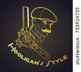 vector hooligan's style tattoo... | Shutterstock .eps vector #733924735