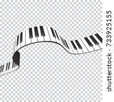 Piano Keys Wave  Design Elemen...