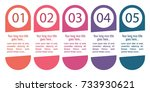 colorful infographic in five... | Shutterstock .eps vector #733930621